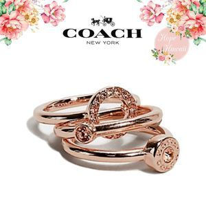 NWT Coach Open Circle Halo Ring Set Size 7 F67074